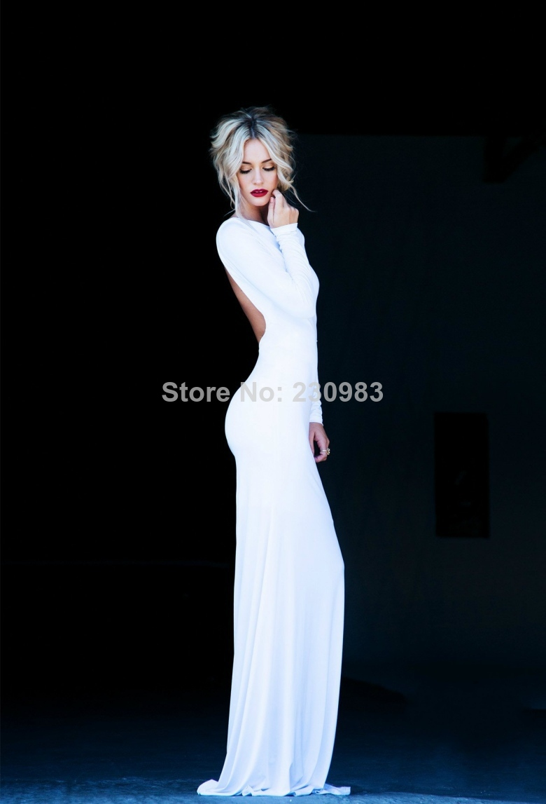 Aliexpress.com : Buy Long Sleeve Evening Dresses 2017 Sexy ...