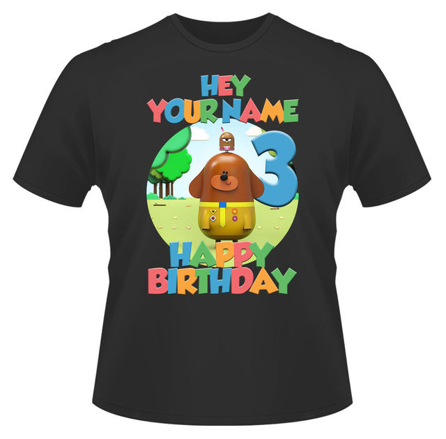 c3c43324 Hey Duggee Happy Birthday Personalised Boys Girls T Shirt Ideal Gift/Present  New T Shirts Funny Tops Tee New Unisex Funny Tops-in T-Shirts from Men's ...