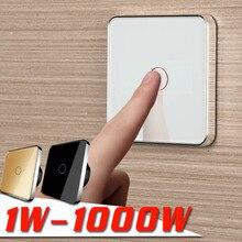 JIUBEI, бесплатная доставка, ЕС сенсорный выключатель, стены сенсорный выключатель, 1 Gang 1Way, AC 220 V-250 V, C701-11-