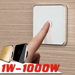 JIUBEI, Free Shipping, EU Touch Switch,  Wall Touch Switch, 1Gang 1Way ,  AC 220V-250V, C701-11--