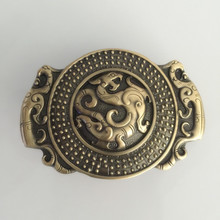 2016 Newest High high quality Solid brass Dragon males's Belt Buckles with pewter Fashion Mens Jeans equipment match 4cm Wide Belt