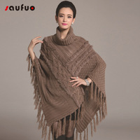 New Style Women Winter Fashion Knitted Pattern Cashmere Yarn Long Wrap Soft Sweater Batwing Sleeve High