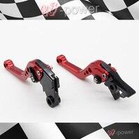 For HONDA CBR 250 MC19 / MC22 CBR 400 NC23 / NC29 motorcycle accessories CNC billet aluminum Short Brake Clutch Lever Red