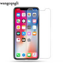 wangcangli 9H ultra-thin tempered glass for iphone6 6S Plus 7 8 screen protector glass for iphone X 10 8 7 6s 5 5s glass цена и фото