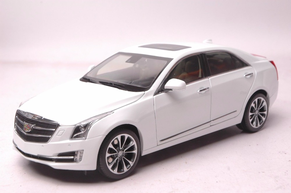 1:18 Diecast Model for GM Cadillac ATS-L 2016 White Alloy Toy Car Miniature Collection Gifts ATS 1 18 diecast model for gm cadillac xt5 white suv alloy toy car miniature collection gifts ats