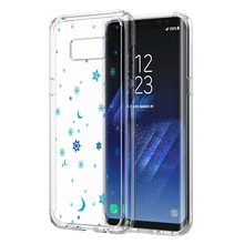 White Snowflakes Phone Case Clear For Samsung Galaxy S8/S8 Plus Christmas Gift, Winter Fashion Case Cover For Galaxy S8/S8 Plus