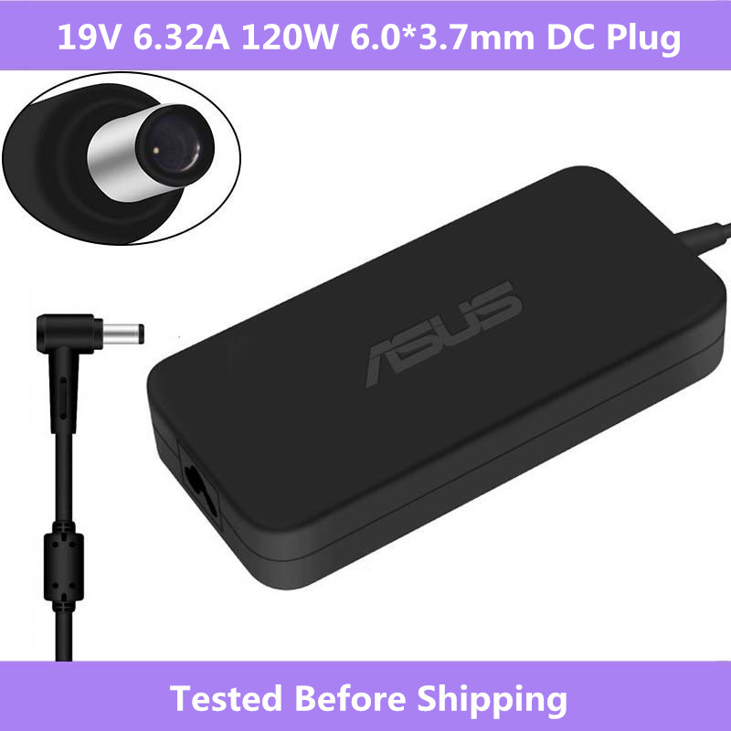 <font><b>19V</b></font> <font><b>6.32A</b></font> 120W 6.0*3.7mm Adapter Power <font><b>Charger</b></font> For <font><b>Asus</b></font> TUF Gaming FX705GM FX705GE FX705GD FX505 FX505GD FX505GE FX505GD FX505DY image