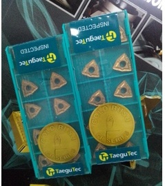 Taegutec Tungsten Carbide Inserts WNMG080404MT TT8125 Turning Tools  WNMG 080404 MT TT8125 General Turning Of Steel
