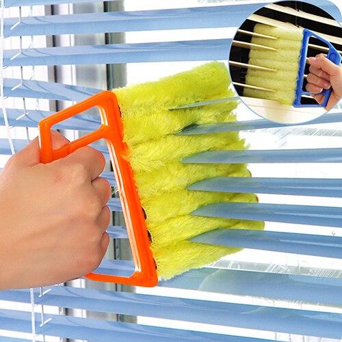 1 pz Microfibra Veneziane Duster Slat Cleaner Dust Clean Clip Lavabile Climatizz
