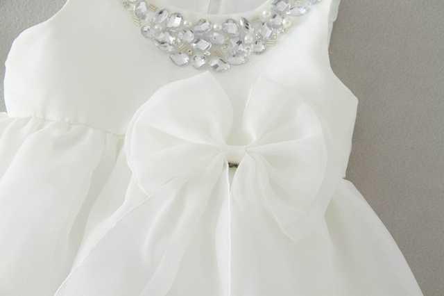 cb5ce293db9 Retail New Baby Girl Wedding Dresses Bow Birthday Dress Puffy Party  Sundress Baby Clothing 0-