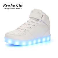 Shoes Light Up Luminous Sneakers Shoes Children Glowing Sneakers Children Led Slippers Neon Basket Sneaker felt boots