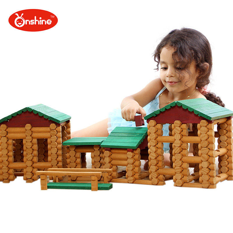 382pcs Wooden Primitive Tribe Log Set Tribes Cabin Children Educational Building Blocks Creative Assemble Toys human development and social exclusion among primitive tribes in india