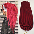 Soft Dreadlock Havana Mambo Twist Faux Locs Crochet Hair Extensions 18inch 100g 20 Roots Synthetic Dreads Crochet Braid hair