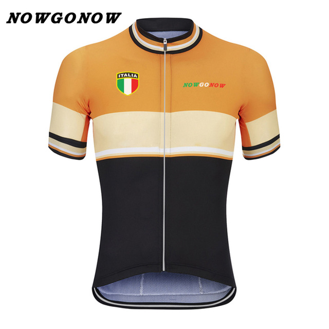 NOWGONOW 2017 cycling jersey men clothing bike wear orange black rider  racing road mountain summer short sleeve China Quick Dry 4f3717ad6