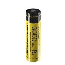 NITECORE Batería de ion de litio NL1835HP, alto rendimiento, 18650, 3500mAh, 3,6 V, 12,6 WH, 8A, batería de botón superior protegida