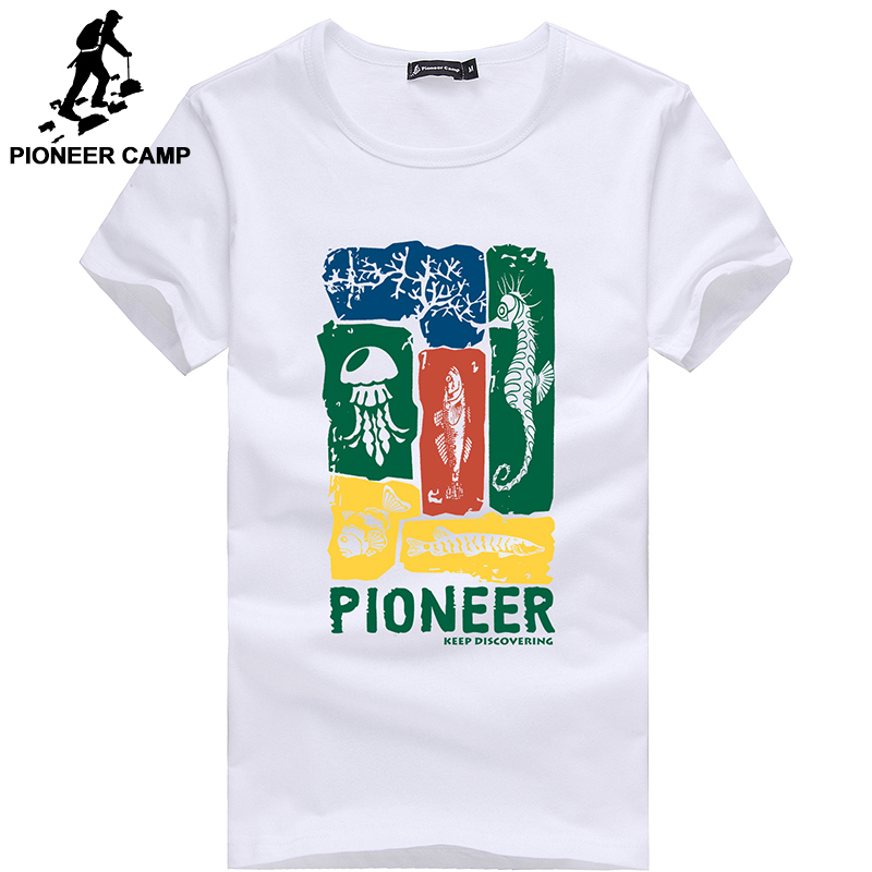 Pioneer Camp Men T Shirt New 2017 Cotton Simple Print: Pioneer Camp Free Shipping ! 2017 New Men T Shirt Short