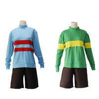 Game Undertale Cosplay Chara Frisk Sweatshirts Shorts Full Set Halloween Cosplay Costume Casual Pullover Top Long Sleeve Coat