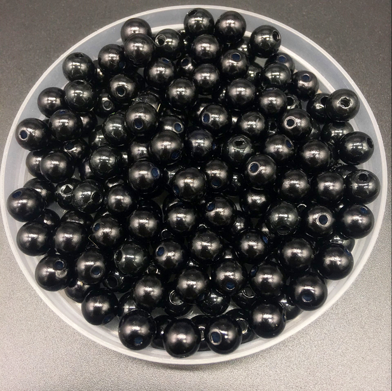 4mm-10mm Black Imitation Pearls Round Pearl Spacer Loose Beads DIY Jewelry Making Necklace Bracelet Earring Accessories(China)