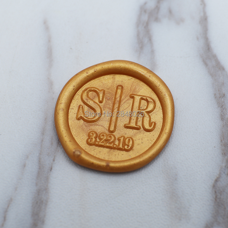 Retro Classic Personalised Wax Seal Stamp Wedding Birthday Invitation Custom