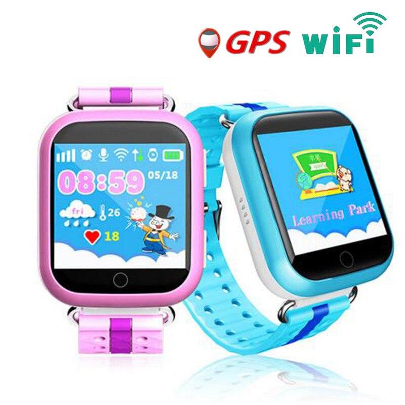 GPS Montre Smart Watch Q750 Q100 bébé montre avec Wifi écran tactile SOS Appel Dispositif de Localisation Tracker pour Kid Safe Smartwatch PK Q90 Q80