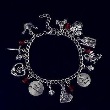 Dongsheng Érase una vez Charm Bracelet Chain Emma Swan talismán antiguo Vintage banglets pulsera tobillera joyas de cuentos de hadas-25
