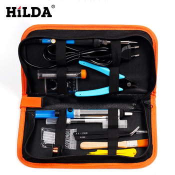 HILDA 110 В/220 В 60 Вт Ручка инструмент для ремонта Регулируемая температура Электрический паяльник набор + 5 шт. переносная отвертка сварка
