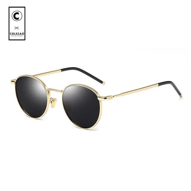 d8e0669e9c173 COLECAO Round Women Sunglasses Polarized Retro 2018 Fashion Vintage Eyewear  Luxury Brand Designer Sun Glasses Men Ladies 5512