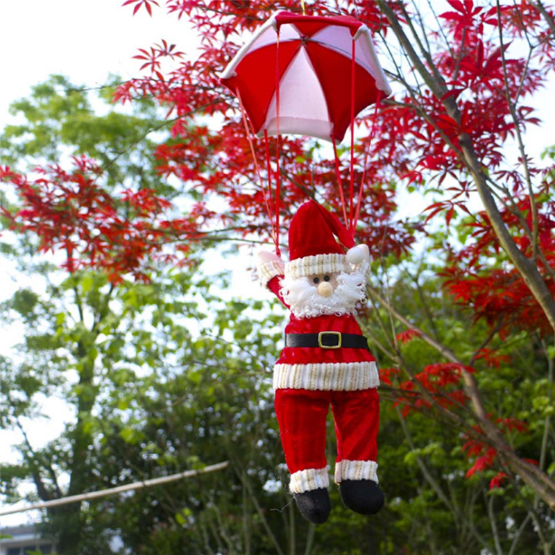 Christmas Home Ceiling Decorations Parachute Santa Claus Smowman New Year Hanging Pendant Decoration Supplies In Drop Ornaments From