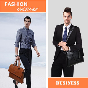 """Image 4 - JEEPBULUO Mens Briefcase Fashion Handbags For Man Sacoche Homme Marque Male leather Bag For A4 Documents 13"""" Laptop 6015"""
