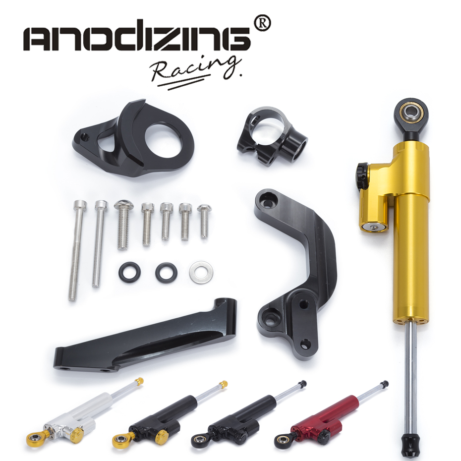 Motorcycle CNC Steering Damper Stabilizerlinear Reversed Safety Control with Bracket For SUZUKI GSXR1000 2009-2015