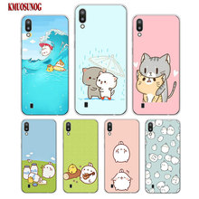 Transparent Soft Silicone Phone Case Kawaii Molang for Samsung Galaxy S10 S10e Plus S10+ M10 M20 Cover