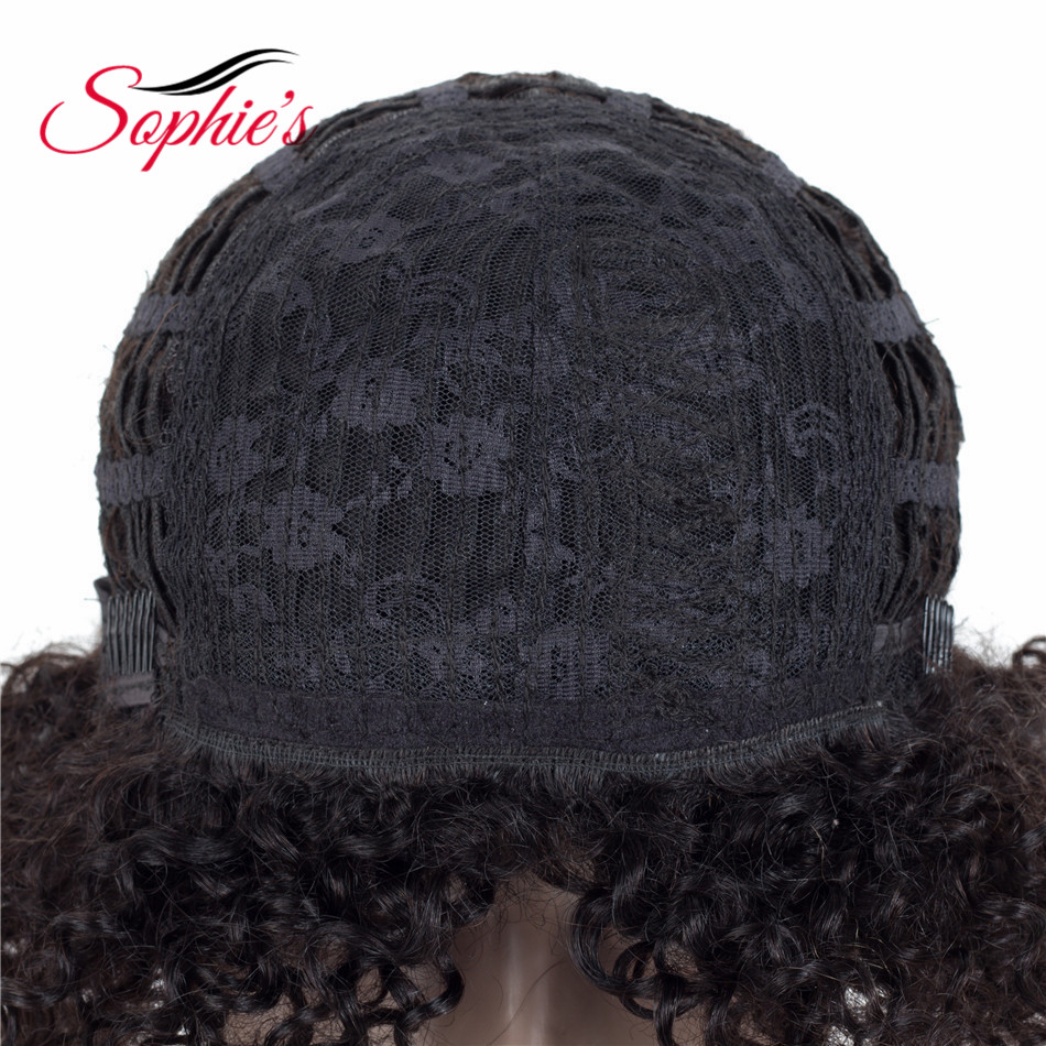 Sophie's Short Human Hair Parykker For Sorte Kvinder 100% Human Hair - Skønhed forsyning - Foto 4