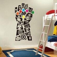 Супергерой Мстители стены наклейка детская комната Игровая Комната Железный человек Бесконечность войны Халк Капитан Бэтмен стикеры спальня винил книги по