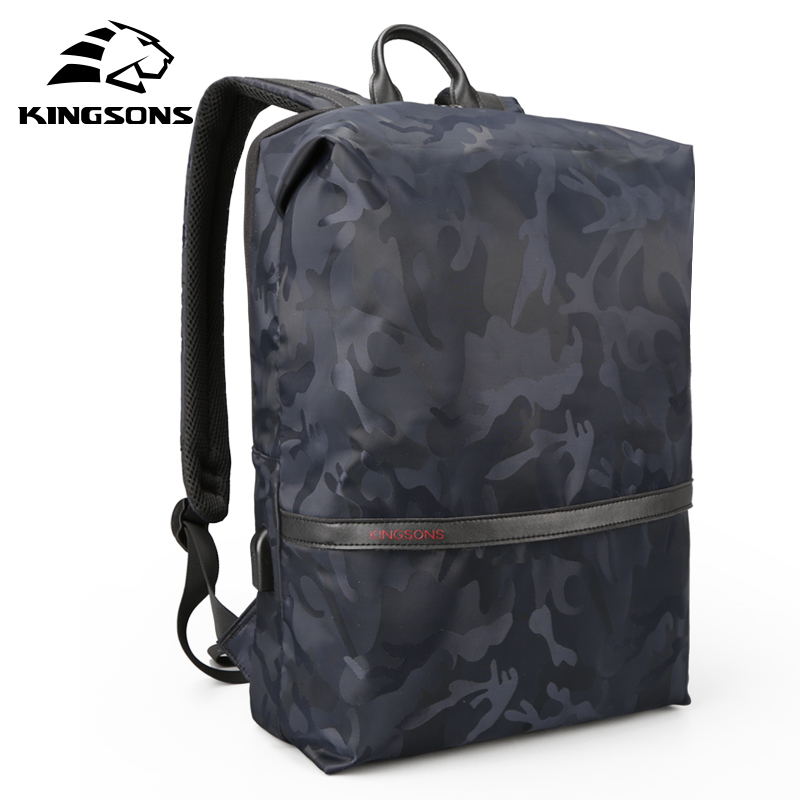 Kingsons Men Backpacks For 15 6 inches Laptop Backpack Large Capacity Women Shoulder Bags Student Casual