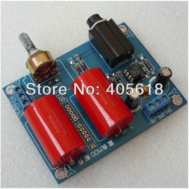 DIY RA1 Headphone Amplifier Kit Power AMP JRC4556AD Terminal Blocks gzlozone diy kit hd 8 a1 pro headphone amplifier amp box headphone amp kit transformer
