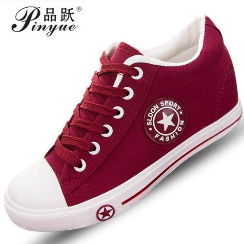 de35449230d3a Summer Sneakers Wedges Canvas Shoes Women Casual Shoes Female Cute White  Basket Stars Zapatos Mujer Trainers 5 cm Height