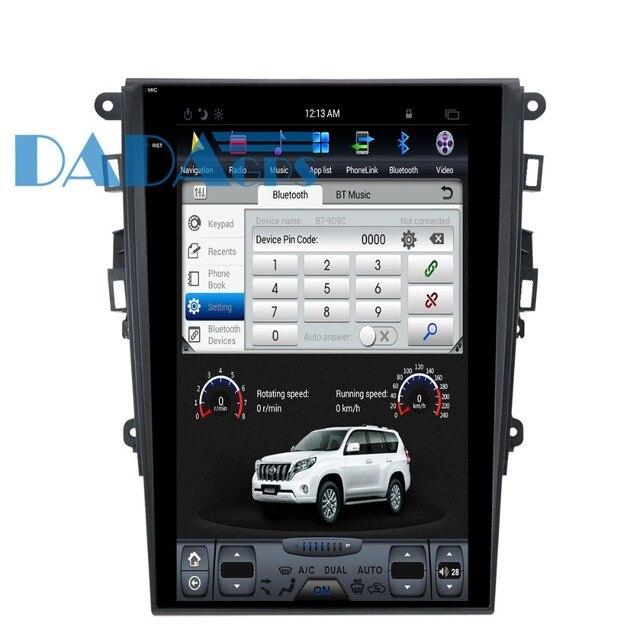 테슬라 스타일 자동차 GPS 네비게이션 포드 Mondeo 퓨전 MK5 2017 + 13.6 인치 안드로이드 라디오 테이프 레코더 DVD 비디오 멀티미디어 유닛