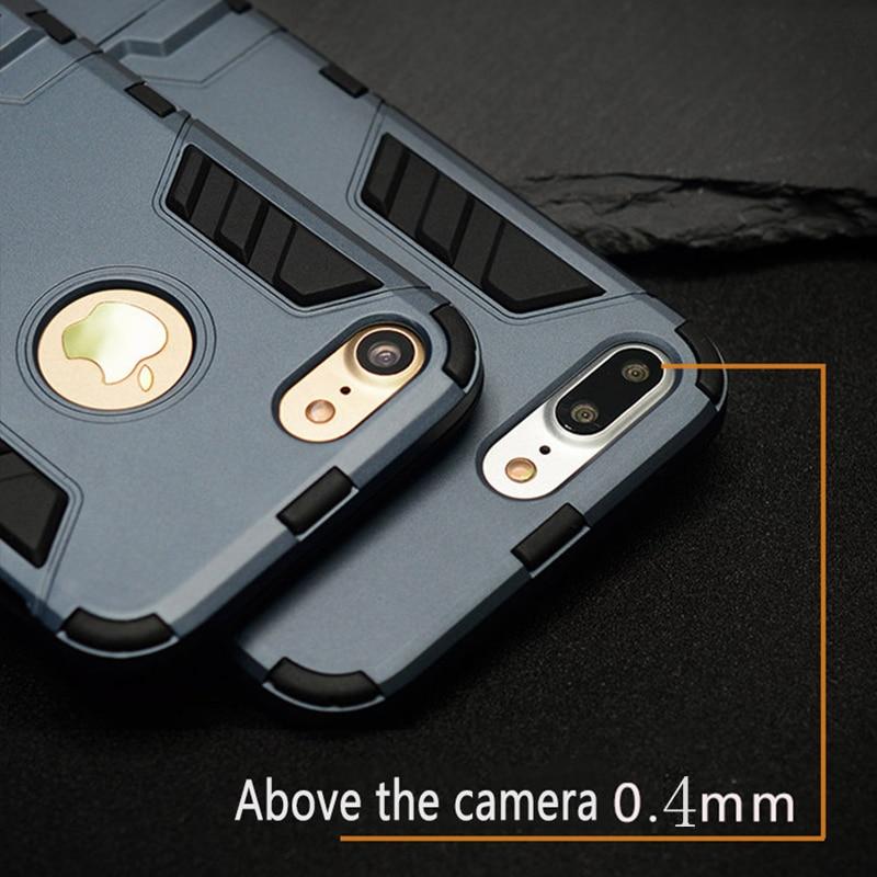 För iPhone 6 6s 6plus PC + Silikon Anti Shock Armor Shield 3D Fodral - Reservdelar och tillbehör för mobiltelefoner - Foto 5