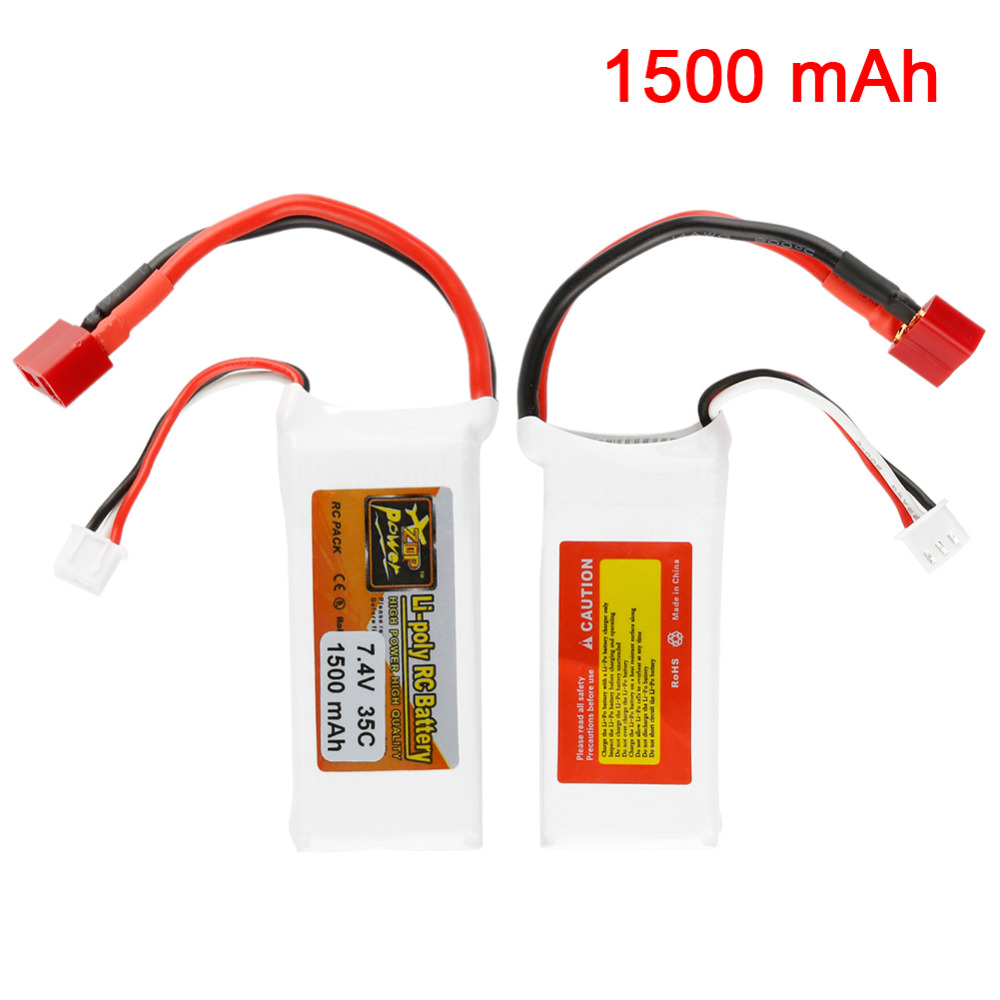 Lightweight T plug Rechargeable Lipo Lithium battery ZOP Power 1500mah 7.4V 35C Battery for RC Car Truck Truggy Hobby high quality zop power 14 8v 2200mah 4s 45c lipo battery t plug rechargeable lipo battery for rc helicopter part