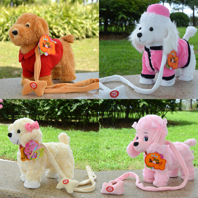 2017 New Arrival Electronic Pet Toys Walking Singing Electronic Plush Dog Baby Toys Gift Toys For Children Birthday Gifts