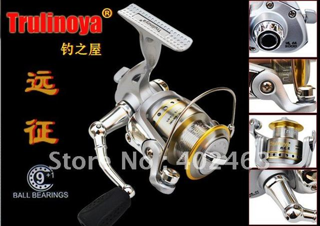 Spinning fishing reel Trulinoya Expedition 1000  machined spool  The metal processing the handle 10precision Ball Bearing 5.0:1
