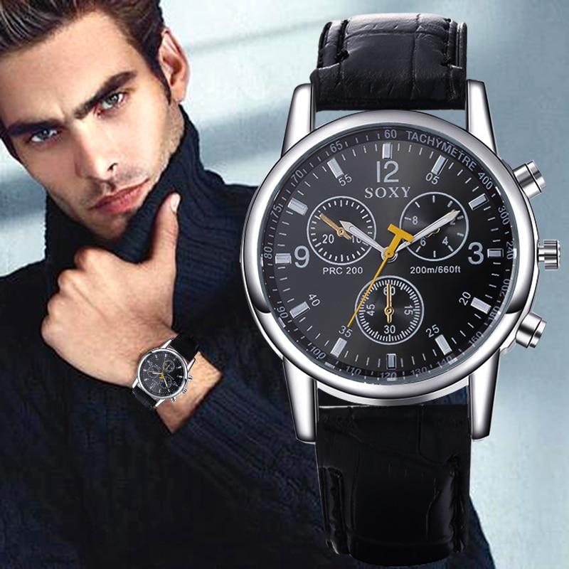 Free Shipping Men Watch Clock Reloj Hombre Men's Watch Mens Watches TOP Brand Luxury Leather Clock Reloj Hombre Erkek Kol Saati