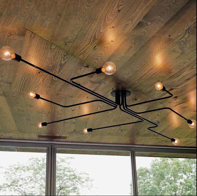 Ceiling Lights Vintage Lamps For Living Room Iluminacion Ceiling Light Wrought Iron Luminaria E27 Bulb Home Lighting Fixtures chandeliers lights led lamps e27 bulbs iron ceiling fixtures glass cover american european style for living room bedroom 1031