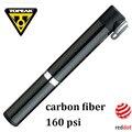 Велосипедный насос TOPEAK 160 PSI из углеродного волокна, миниатюрный ультралегкий портативный велосипедный насос с клапаном, 55 г