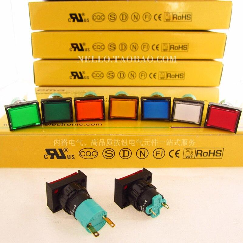 [SA] EMA 16 мм светодиодный s 01P-RI40.Q/01P-RI40.S прямоугольный светодиодный AC110V/220 В RYGBWOV-10 шт./лот