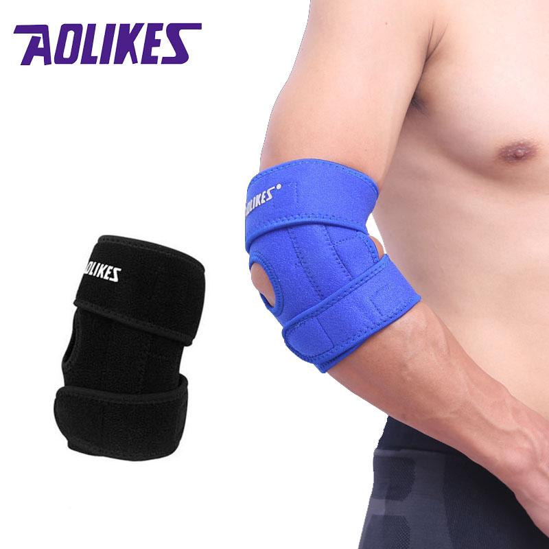 AOLIKES 1PCS almohadillas de codo ajustables Spring Sports Safety - Ropa deportiva y accesorios
