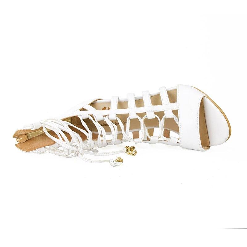 Weiße Super Größe Ef0027 High Elegante Plus Absicht 4 Dünne Mode 15 Offene Frauen Schöne Sandalen Spitze Ursprüngliche Uns Frau Schuhe Heels T57xAqRwR