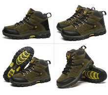 Men Hiking Shoes Waterproof Leather Sport Shoes Climbing Fishing Shoes New Popular Outdoor Sneakers Zapatillas Deportivas Hombre