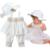 Chica de moda Niños Que Arropan Verano Sin Mangas de La Flor Blanca Tops + Pantalones + Sombrero 3 unids Estilo Europeo Niña ropa