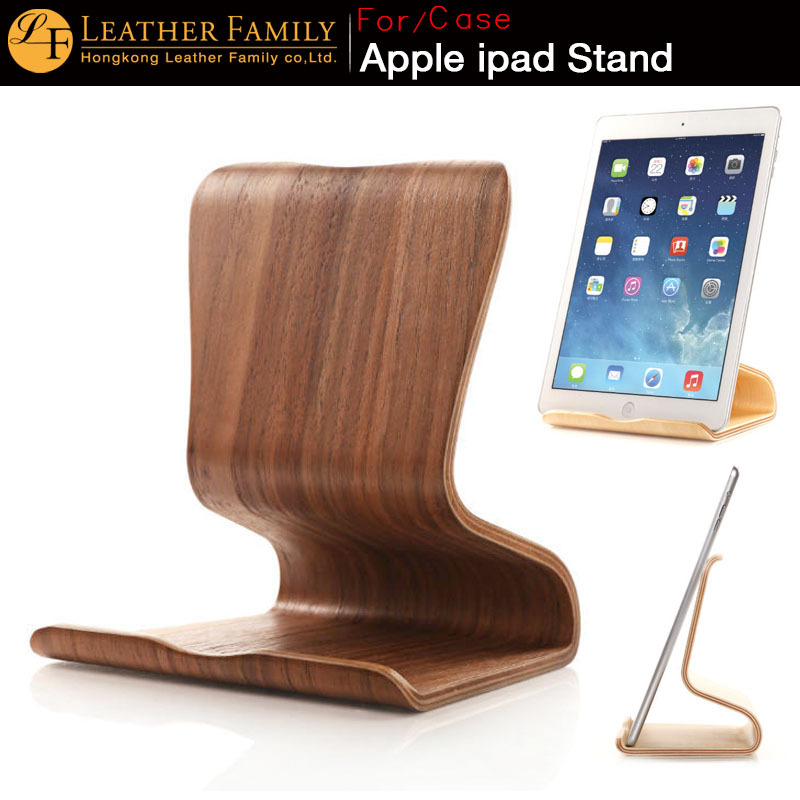 2015 new wooden Birch for apple iPad stand ,lenovo / asus Tablets generic wood color Brownish black